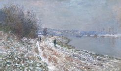 Chemin de halage a Argenteuil (Towpath at Argenteuil)   Claude Monet   Oil Painting