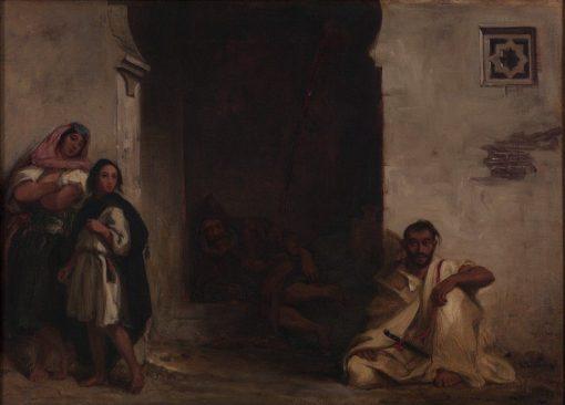 Street in Meknes   Eugene Delacroix   Oil Painting