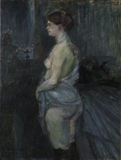 Femme retroussant sa chemise (Woman Lifting her Chemise)   Henri de Toulouse Lautrec   Oil Painting