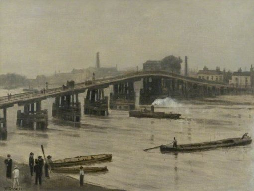 An Old London Bridge | Walter Greaves | Oil Painting