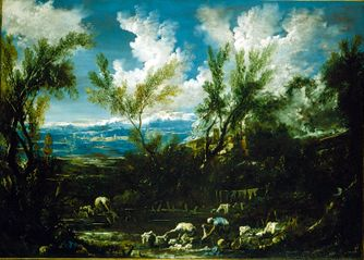 Landscape with Washerwomen | Alessandro Magnasco | Oil Painting