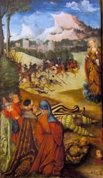 Mary Magdalen Appearing at the Battle of Bornhöved | Erhard Altdorfer | Oil Painting