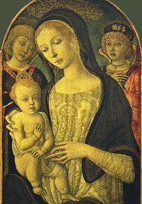 Madonna with Child and Two Angels | Guidoccio Cozzarelli | Oil Painting