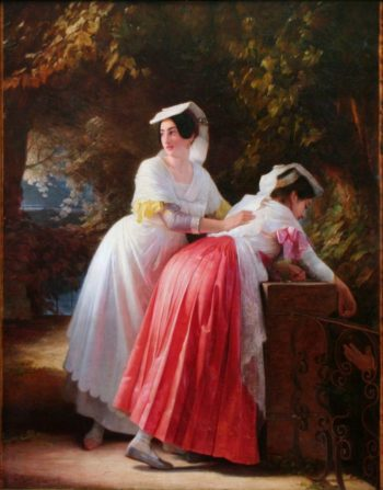 Women from Albano | August Riedel | Oil Painting
