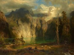 schinensee near Kandersteg in the Canton of Berne | August Wilhelm Leu | Oil Painting