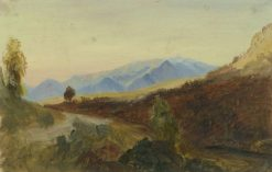 Vies of the Apennines (Study) | Carl Blechen | Oil Painting
