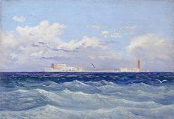 Mediterranean Island Fortress | Carl Gustav Carus | Oil Painting