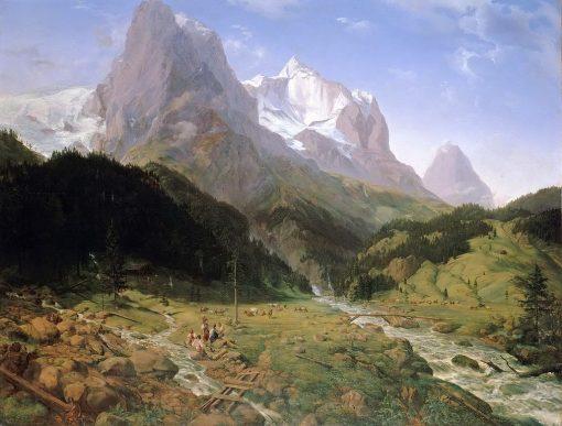 The Wetterhorn | Ernst Ferdinand Oehme | Oil Painting