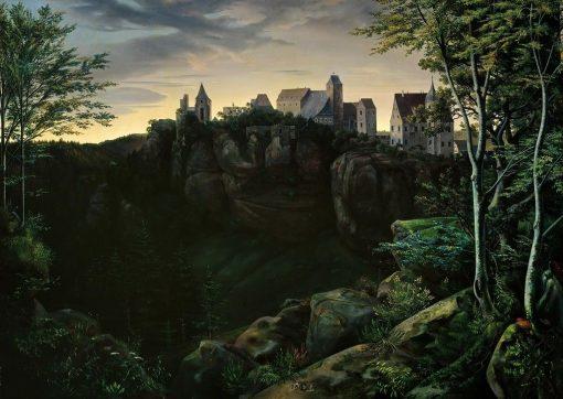 Castle Hohnstein in Saxon Switzerland   Ernst Ferdinand Oehme   Oil Painting