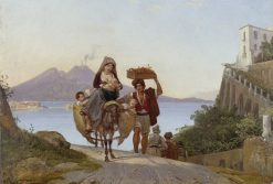 The Gulf of Naples with a Fruit Trader | Franz Ludwig Catel | Oil Painting