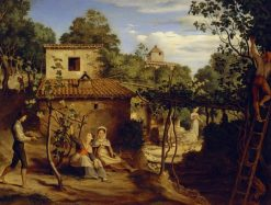 The Estate of the Arch Priest in Olevano | Johann Heinrich Ferdinand Olivier | Oil Painting