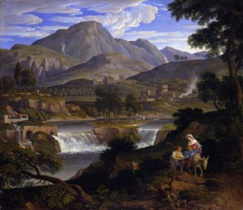 Waterfall at Subiaco | Joseph Anton Koch | Oil Painting