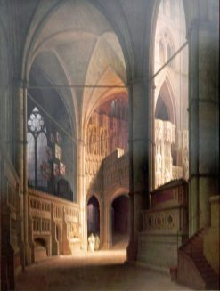 Westminster Abbey Interior | Max Emanuel Ainmiller | Oil Painting
