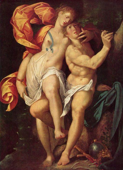 Angelica and Medor | Bartholomaeus Spranger | Oil Painting