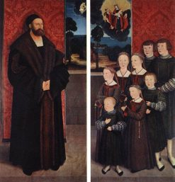 Portrait of Conrad Rehlinger and his Children   Bernhard Strigel   Oil Painting