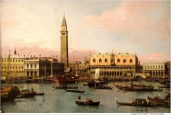 View of the Doge's Palace in Venice(also known as Veduta del Palazzo Ducale di Venezia) | Canaletto | Oil Painting