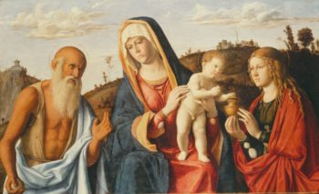 Virgin and Child with Saints Mary Magdalen and Jerome | Cima da Conegliano | Oil Painting