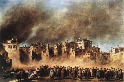 Fire in the Oil Depot at San Marcuola | Francesco Guardi | Oil Painting
