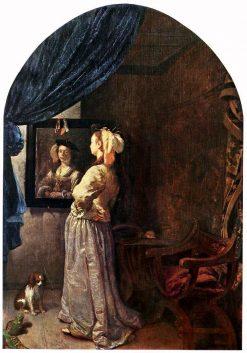 Woman Before the Mirror | Frans van Mieris the Elder | Oil Painting