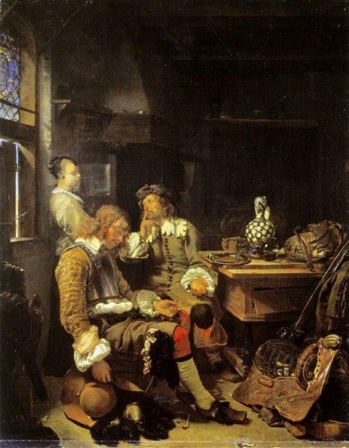 The Sleeping Officer | Frans van Mieris the Elder | Oil Painting