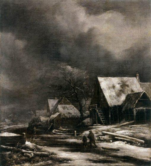 A Village in Winter | Jacob van Ruisdael | Oil Painting