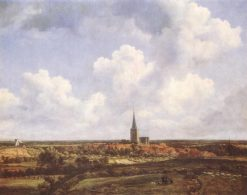 Landscape with Church and Village | Jacob van Ruisdael | Oil Painting