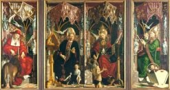 Altarpiece of the Early Church Fathers | Michael Pacher | Oil Painting