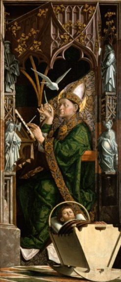 Altarpiece of the Church Fathers (right panel: Saint Ambrose) | Michael Pacher | Oil Painting