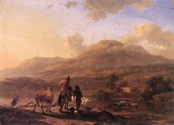 Italian Landscape at Sunset | Nicolaes Berchem | Oil Painting
