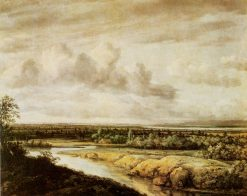Landscape with a River | Philips Koninck | Oil Painting