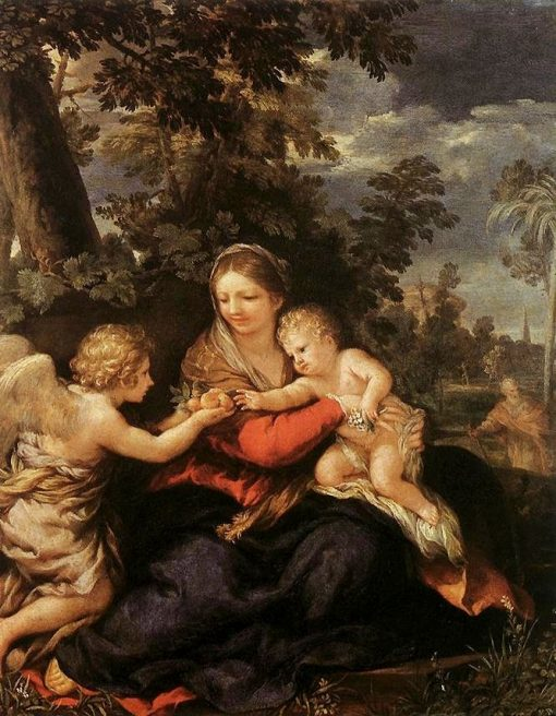 Holy Family Resting on the Flight to Egypt | Pietro da Cortona | Oil Painting