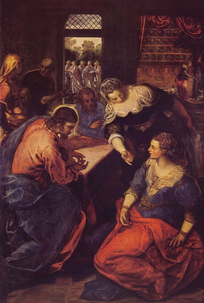 Christ in the House of Martha and Mary | Tintoretto | Oil Painting
