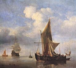 Calm Sea | Willem van de Velde the Younger | Oil Painting