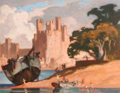 Caernarvon Castle | Sir Frank William Brangwyn | Oil Painting