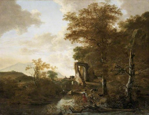 Landscape with an Arched Gateway | Adam Pynacker | Oil Painting