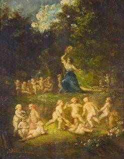 The Gambols | Adolphe Joseph Thomas Monticelli | Oil Painting