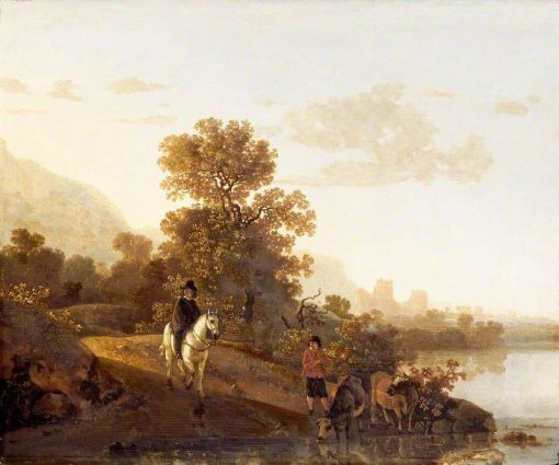 Landscape with Ubbergen Castle | Aelbert Cuyp | Oil Painting