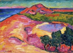 Coast Scene with Red Hill | Alexei von Jawlensky | Oil Painting