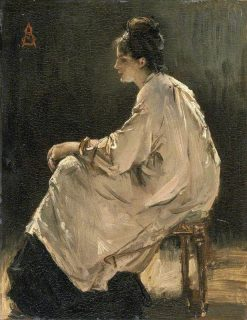 Seated Girl | Alfred George Stevens | Oil Painting