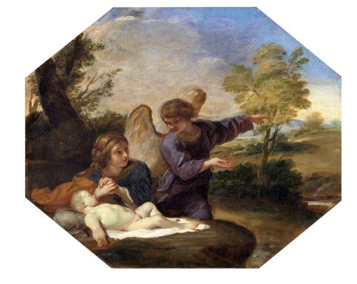 Hagar and Ishmael in the Wilderness | Andrea Sacchi | Oil Painting