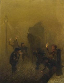 A London Fog | Charles Albert Ludovici | Oil Painting