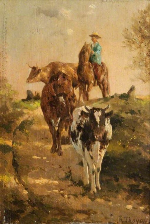Landscape with Cattle | Constant Troyon | Oil Painting