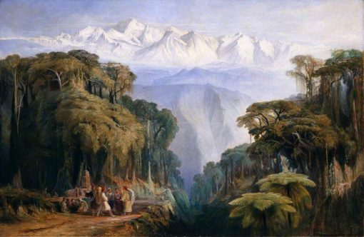 Kinchenjunga from Darjeeling | Edward Lear | Oil Painting