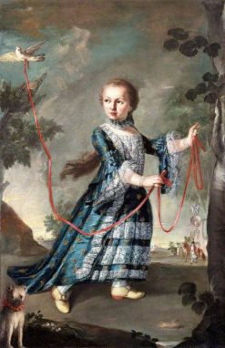 A Young Girl of the Gradenigo Family with a Dove | Francesco Guardi | Oil Painting