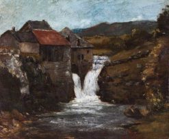 The Mill at Orbe | Gustave Courbet | Oil Painting