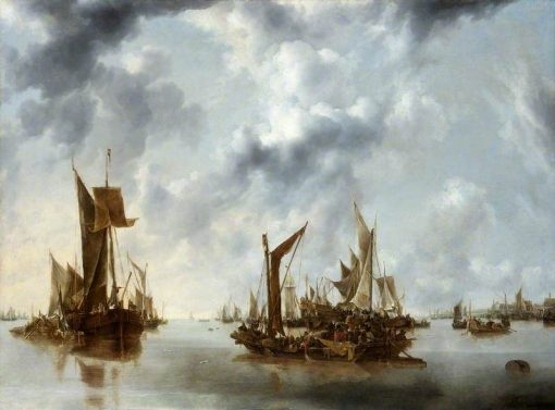 A Calm | Jan van de Cappelle | Oil Painting