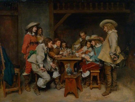 Game of Piquet: Innocents and Card Sharpers | Jean Louis Ernest Meissonier | Oil Painting