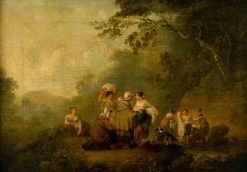 Landscape with Figures | Julius Caesar Ibbetson | Oil Painting