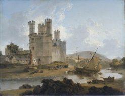 Caernarvon Castle | Julius Caesar Ibbetson | Oil Painting