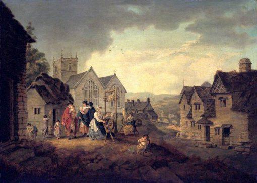 Llangollen | Julius Caesar Ibbetson | Oil Painting